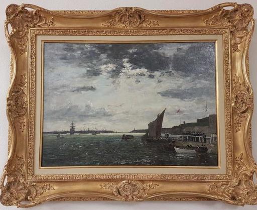 Eugène BOUDIN - Painting - le port de Brest