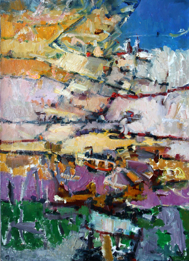 Levan URUSHADZE - Painting - Landscape by the sea