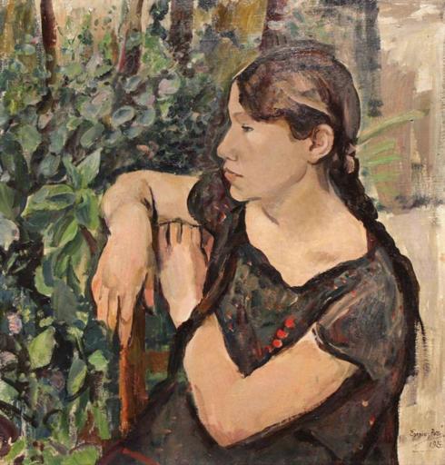 Ennio POZZI - Gemälde - Giovinetta toscana (Gisella)
