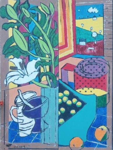 Harry BARTLETT FENNEY - Peinture - stil life by open window