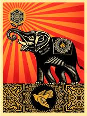Shepard FAIREY - Estampe-Multiple - Peace Elephant