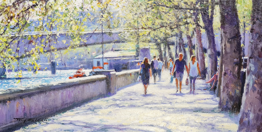 Tony SHEATH - Pittura - Spring on the Embankment