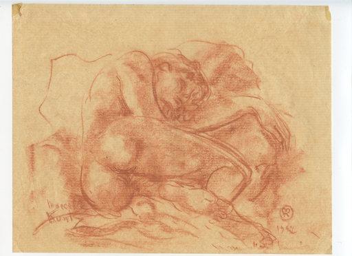 Marcelle KUNTZ - Drawing-Watercolor - 4 DESSINS SANGUINE SIGNÉS MAIN 4 HANDSIGNED DRAWINGS