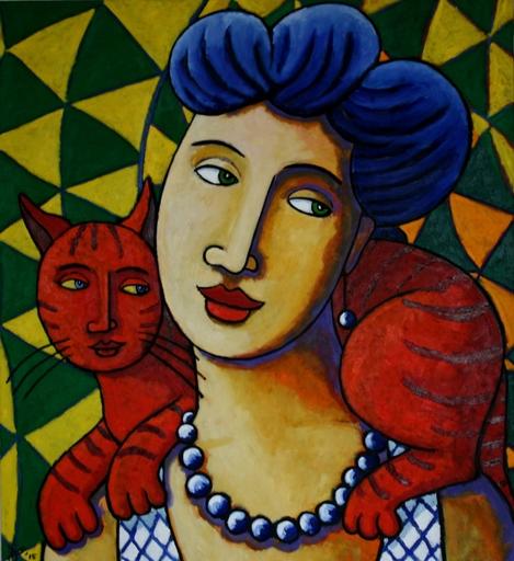 Jacques TANGE - Peinture - Dompteuze    (Cat N° 4701)