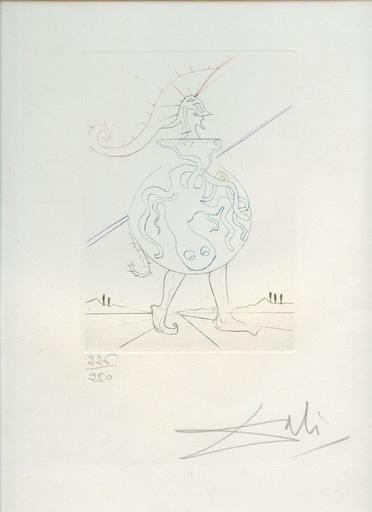 Salvador DALI - Estampe-Multiple - HENRY V GRAVURE 1970 SIGNÉE CRAYON NUM ML402 HANDSIG ETCHING