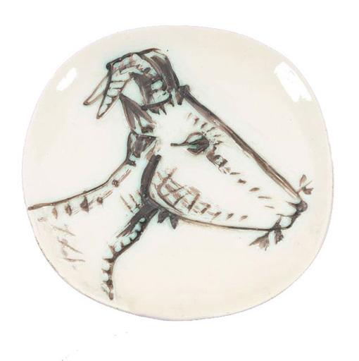 Pablo PICASSO - Ceramiche - Tête de chèvre de profil