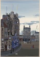 Michel DELACROIX - Dessin-Aquarelle - Cityscape Waltercolor