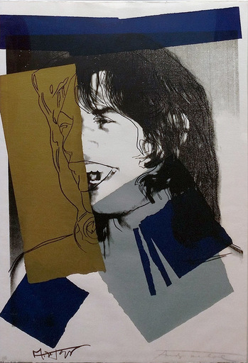 Andy WARHOL - Estampe-Multiple - Mick Jagger FS II.142