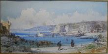 Emmanuel COSTA - Dibujo Acuarela - Le Port de Nice