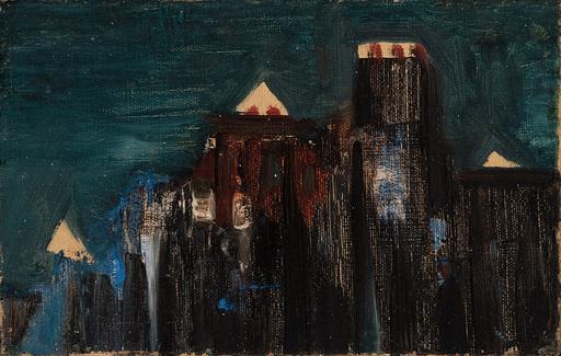 Oscar DOMINGUEZ - Painting - La ville, la nuite