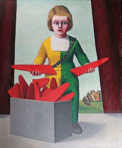David HOSIE - Painting - Red Plane