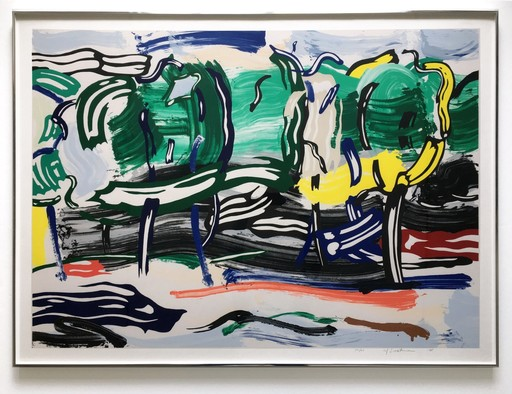 Roy LICHTENSTEIN - Print-Multiple - Road Before The Forest, from the Landscapes Series