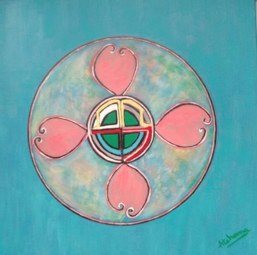ATCHAMA - Painting - fleur d'amour