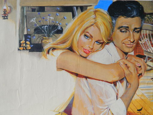 Troels MARSTRAND - Painting - LES AMOUREUX - LOVERS