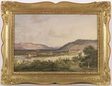 Pieter Francis PETERS - Drawing-Watercolor - View of Wangen, 1847, Watercolor