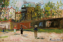 Maurice UTRILLO - Pittura - Moulin de la Galette, Montmartre