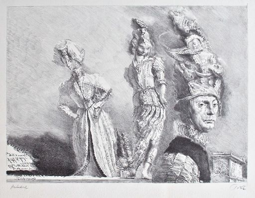 Werner TÜBKE - Print-Multiple - Happening in Pompeji IV