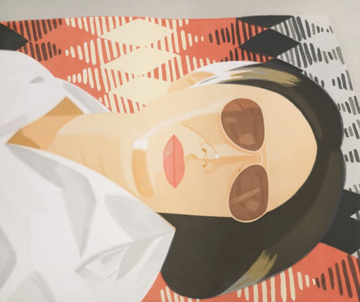 Alex KATZ - Grabado - Reclining Figure / Indian Blanket