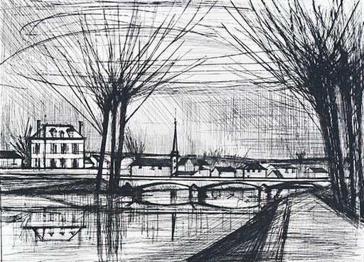 Bernard BUFFET - Grabado - CANAL  A SOISSONS 1964