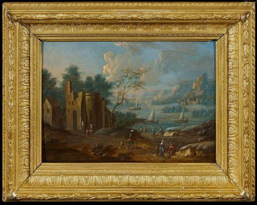 Marc BAETS - Painting - Landschaft mit Ruine