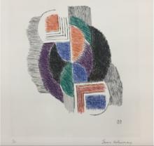 Sonia DELAUNAY-TERK - Estampe-Multiple - Composition