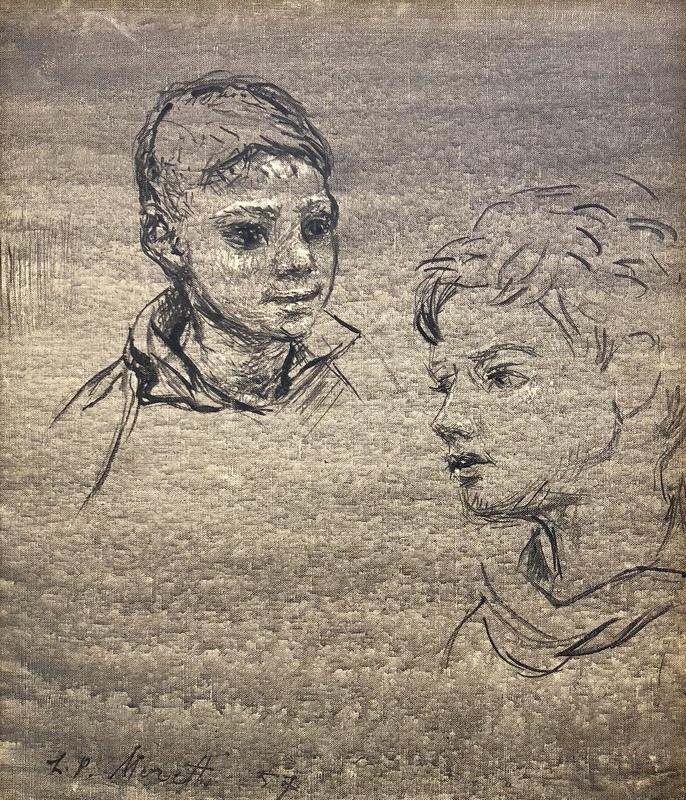 Lucien-Philippe MORETTI - Peinture - Mère et enfant