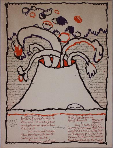 Pierre ALECHINSKY - Grabado - Volcan dépeint