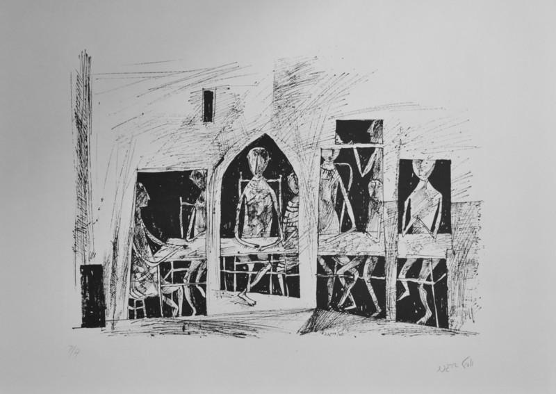 Yosl BERGNER - 版画 - Walls by Yosl Bergner portfolio of 12 pieces