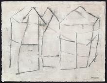 Pierre Marie BRISSON - Dibujo Acuarela - Architecture Brisonnienne I