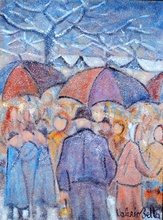 Valerio BETTA - Painting - Mercato di gennaio