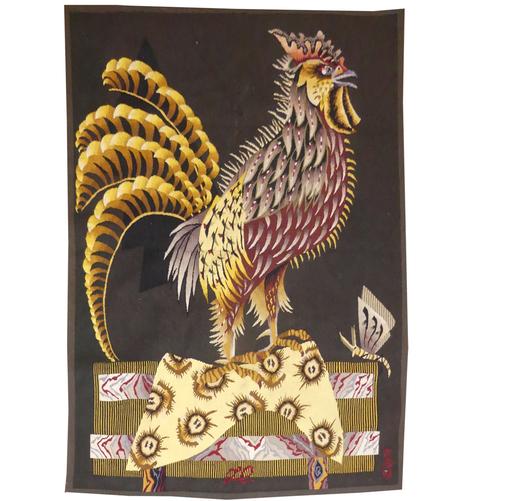 Jean LURÇAT - Tapisserie - Le coq et les planches