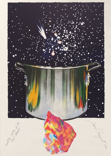 James ROSENQUIST - Grabado - Caught one lost one for the fast student or star catcher