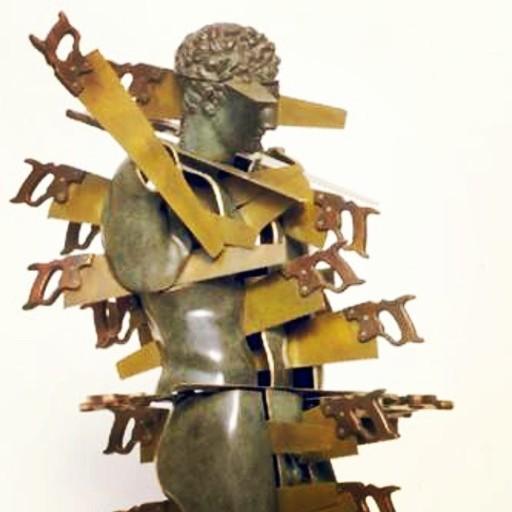 Fernandez ARMAN - Sculpture-Volume - Cheveux en Quatre