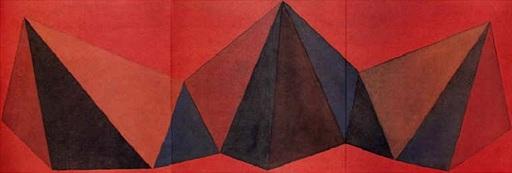 Sol LEWITT - Stampa-Multiplo - Piramidi VIII