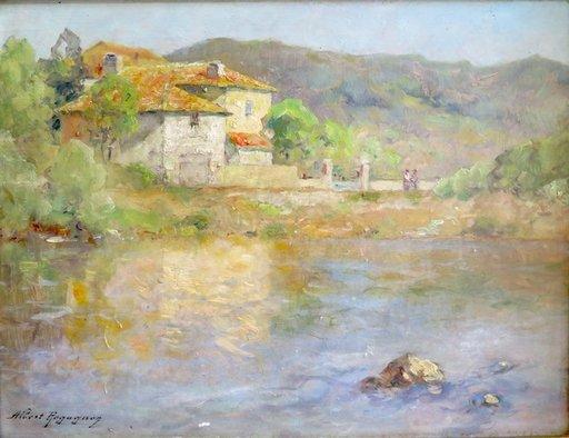 Albert REGAGNON - Painting - Le Salat à Santarailles