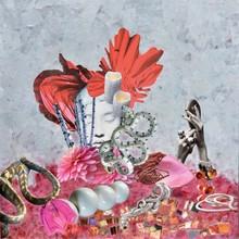 Laetitia DE GAULLE - Painting - La femme aux serpents