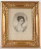 Louis René LETRONNE - Drawing-Watercolor - Countesses Rosalia Rzewuska and Therese Apponyi, 2 Portraits