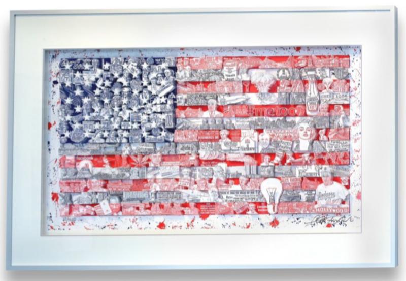 Charles FAZZINO - Druckgrafik-Multiple - Historically - Our American Flag