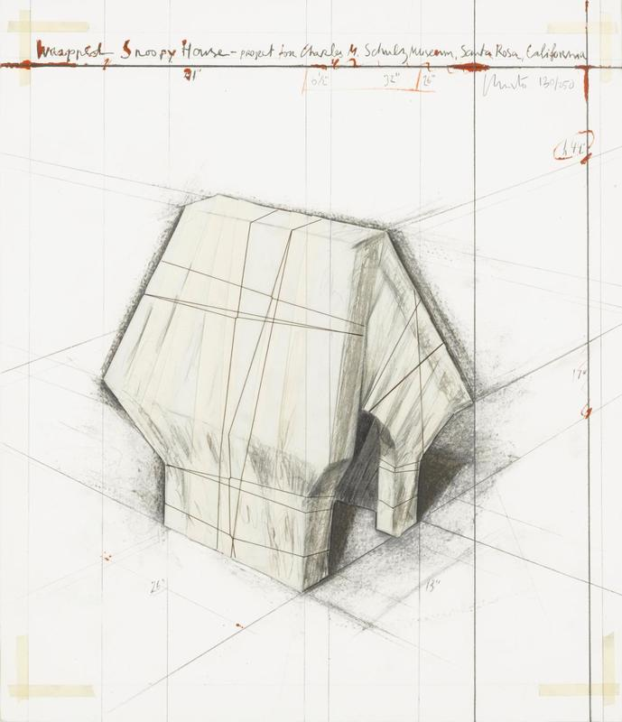 CHRISTO - Print-Multiple - Wrapped Snoopy House-Project for the Charles M. Schulz Museu