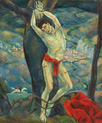 Herbert GURSCHNER - Pintura - Heiliger Sebastian