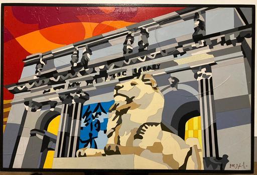 Ugo NESPOLO - Peinture - N.Y. Pubblic Library