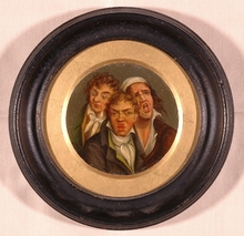 "Louis Léopold BOILLY (Attrib.) - Miniature - ""Expressive Heads"""