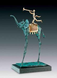 Salvador DALI - Sculpture-Volume - Triumphant Elephant, Elephant de triomphe