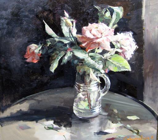 Christoff DEBUSSCHERE - Pintura - Le bouquet de roses