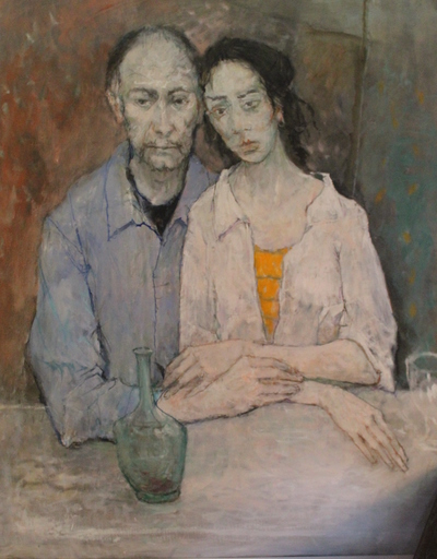 Jean JANSEM - Painting - Couple attablé