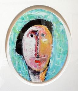 Vladimir CORA - Pintura - Cabeza en Ovalo III