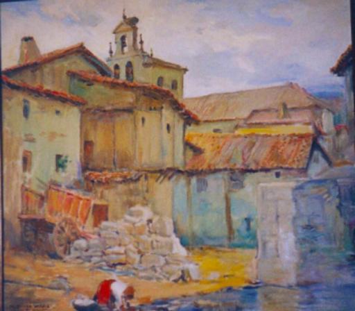 Marceliano SANTAMARIA SEDANO - Painting - Villafría