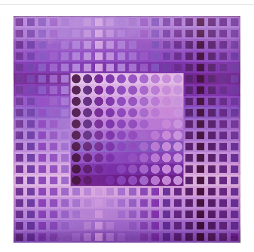维克多•瓦沙雷利 - 雕塑 - Monocolor violet
