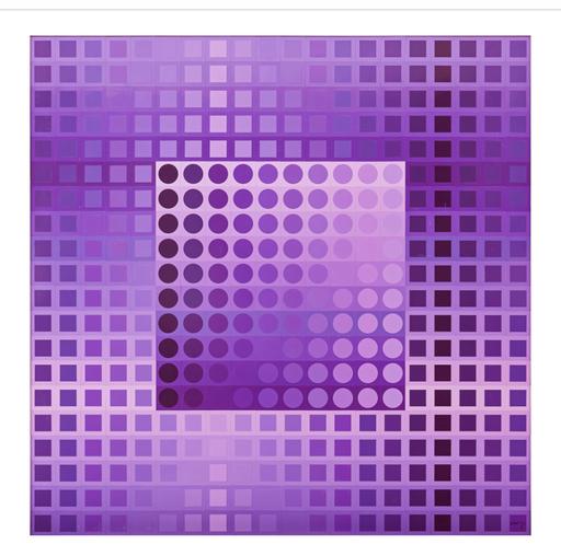 Victor VASARELY - Scultura Volume - Monocolor violet
