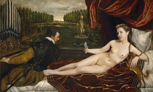 Pere COLOM - Fotografie - Venus Recreándose en la Música (Tiziano, el Prado)